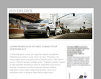 Ford Explore branded automotive email design