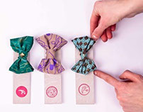silk screen printed bow- tie by follow the swallow