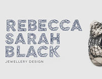 Rebecca Sarah Black Jewellery Design Branding