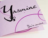 Birthday Yasmine - invitation card