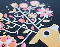 Black Bouquet Print series