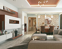 Mountain View Apartment ( Interior Design )