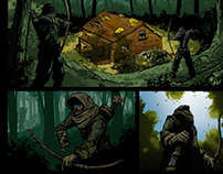 "Comic Page from ""Lejos de R'lyeh"""