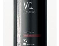 """Etiqueta de Vino """"VQ D'MATIAS"""""""