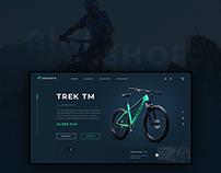 Bikeshop - webdesign concept