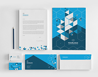 Abstract Triangles Stationery Pack