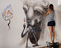 Mural made ​​during the 2013