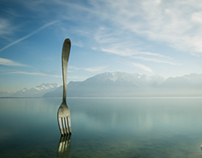 Vevey - fork in water