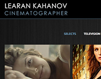 Learan Kahanov | Cinematographer Website Design