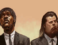 Pulp Fiction Caricatures