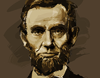 Abraham Lincoln Portrait in Adobe  Illustrator