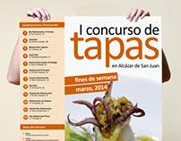 I Concurso de Tapas en Alcázar de San Juan_Cartel Gral.