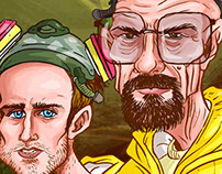 BREAKING BAD CARICATURE ILLUSTRATION