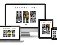 Mumford&Sons website redesign