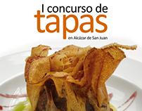"""Carteles Personalizados """"I Concurso de Tapas"""""""