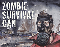 Label for Zombie Survival Can / Rótulo (USA/EUA)