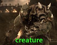 creature sculpting