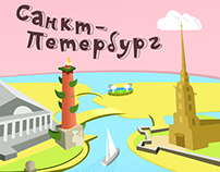 z-card vector map of St. Petersburg for LSR group