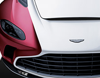 2020 Aston Martin V12 Speedster White & Wine