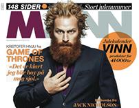 Cover-Kristofer Hivju for magasinet MANN
