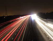 Light trails - Cars on a motorway