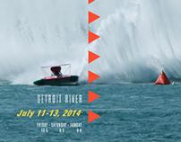 Michigan Tourism Poster - APBA Hydroplane Races