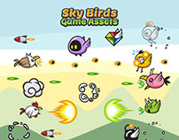 Game Assets Sky Birds Sprite Sheets for Game Animation