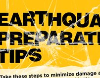 Earthquake Preparation Tips (Social Media)