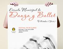Cartel: Escuela Municipal Danza y Ballet (Villatobas)
