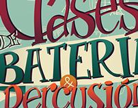 Afiche para clases de batería / Drum lessons poster