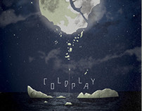 Coldplay SXSW Concert Poster