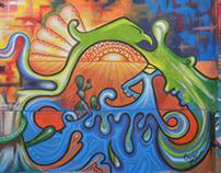 the Mural Park / El parque mural