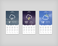 Weather app interface designs