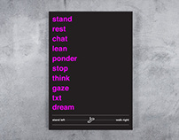 Stand Left Walk Right