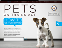 Pets On Trains Act Site Design . HR 2066 / Laura Nativo