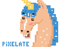 Unicorn. Animated Stickers.