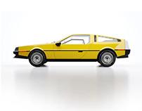 Yellow DeLorean