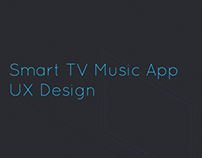 Smart TV Music App UX Concept Design