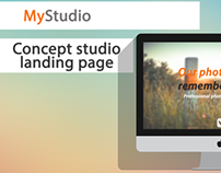 Concept studio landing page