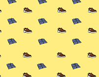 Aussie Shoes Print, Digital Illustration