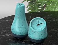 Recycled plastic Speaker & Clock