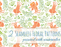 Floral Patterns painted with Watercolor
