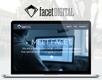 Facet Digital Long Scroll Website