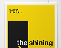 Swiss style poster design 'The shining'