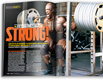 FLEX MAGAZINE NOV. 2012 - GET STRONG FEATURE