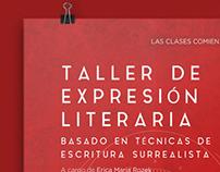 Afiche para el Taller de expresión literaria
