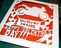 Paper Cut Valentine's Card