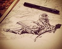 """Illustration - """"L'amant couronné"""" de Fragonard"""