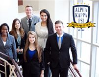 Alpha Kappa Psi at UWM Logo and Branding