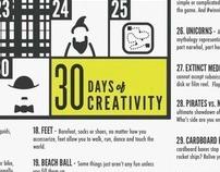 30 Days of Creativity - 2011